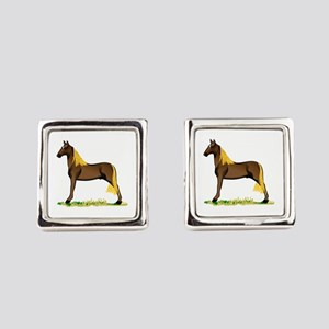 Tennessee Walking Horse Square Cufflinks