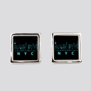 Digital Cityscape: New York City, Square Cufflinks