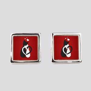 Cute Valentine's Day Cats Love Square Cufflinks