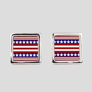 Stars and Stripes Square Cufflinks