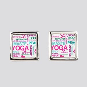 Yoga Inspirations Square Cufflinks