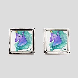 Beautiful Unicorn Square Cufflinks