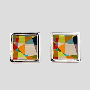 Mid Century Modern Geometric Square Cufflinks