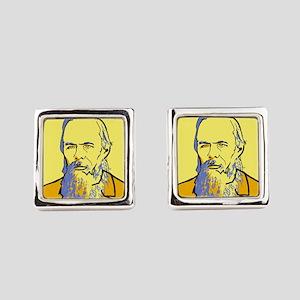 Fyodor Dostoevsky Square Cufflinks