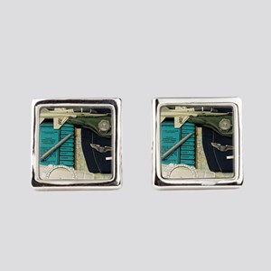 Young Pilot Square Cufflinks