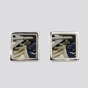 Young Navigator Square Cufflinks