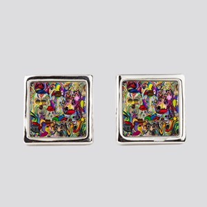 Dogs Dogs Dogs 2 Doggy Dress Up! Square Cufflinks