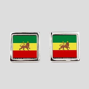 Roots-Music-Flag-Ethiopia Square Cufflinks