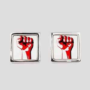 Power Fist Square Cufflinks