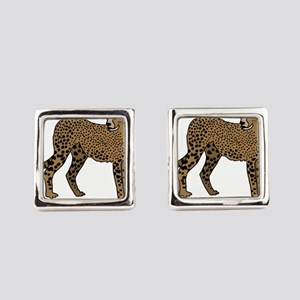 Cheetah Square Cufflinks