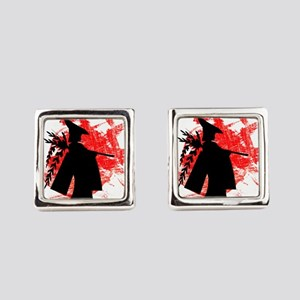 Japanese Girl Square Cufflinks