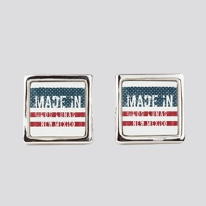 Made in Los Lunas, New Mexico Square Cufflinks