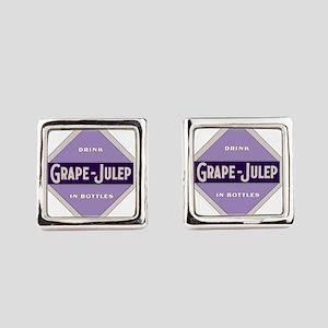 Grape Julep Soda 22 Square Cufflinks
