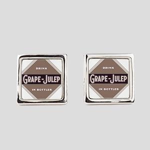 Grape Julep Soda 21 Square Cufflinks