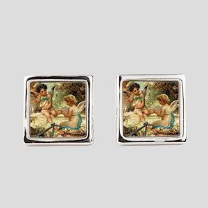 Victorian Angels by Zatzka Square Cufflinks