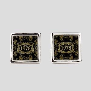 1978 Birth Year Square Cufflinks