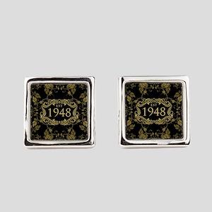 1948 Birth Year Square Cufflinks