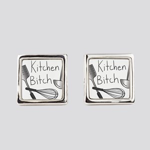 Kitchen Bitch Square Cufflinks