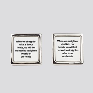 African American quote Square Cufflinks