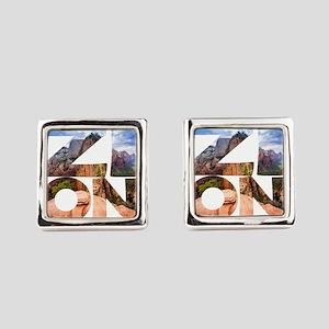 Zion - Utah Square Cufflinks