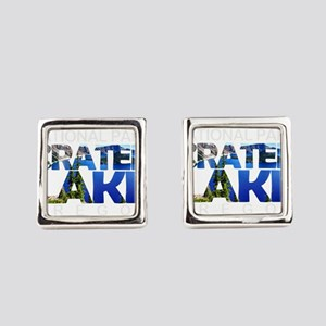 Crater Lake - Oregon Square Cufflinks