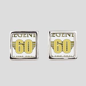 60th Birthday Legend Square Cufflinks
