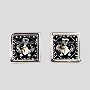 Band of Brothers Crest Square Cufflinks