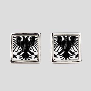 albania_eagle_distressed Square Cufflinks