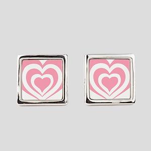 Cascading Hearts Square Cufflinks