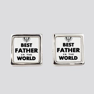 The Best in the World – Father Square Cufflinks