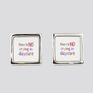 No Crying In Square Cufflinks