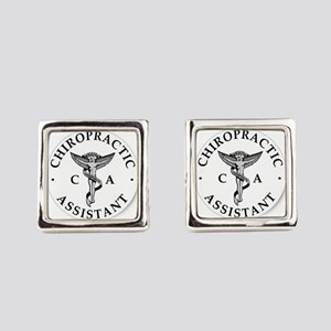 Chiropractic Assistant Square Cufflinks