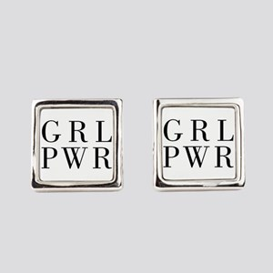 grl pwr Square Cufflinks