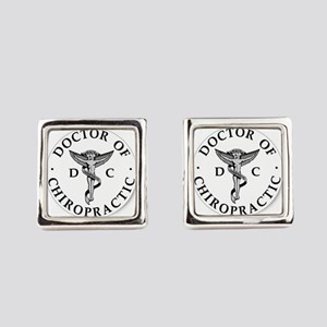 Doctor of Chiropractic Square Cufflinks