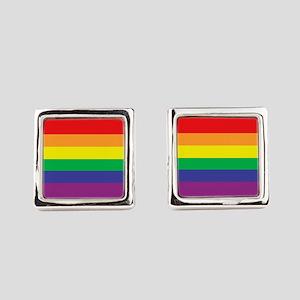 rainbow Square Cufflinks