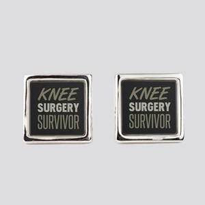 Knee Surgery Survivor Square Cufflinks
