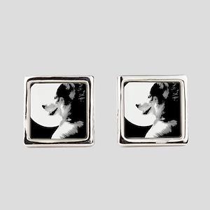 Siberian Husky Malamute Sled Dog Square Cufflinks