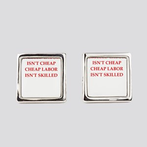 skilled labor Square Cufflinks