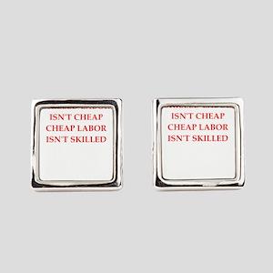 skilled labor Square Cufflinks