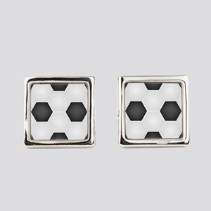 Football Ball Texture Square Cufflinks