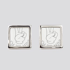 Im This Many Two Square Cufflinks