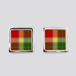 Gibson Scottish Tartan Square Cufflinks