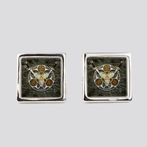 Celtic Shield and Swords Square Cufflinks