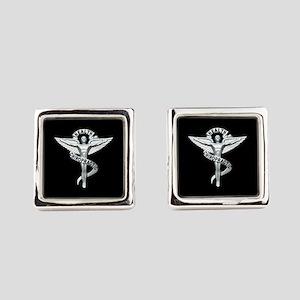 Chiropractor / Chiropractic Emblem Square Cufflink