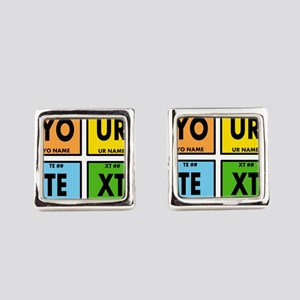 Your Text Periodic Elements Nerd Square Cufflinks