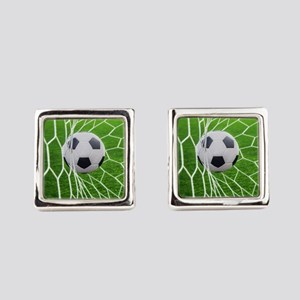 Football Goal Square Cufflinks