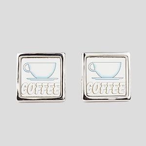 Custom Coffee Shop Square Cufflinks