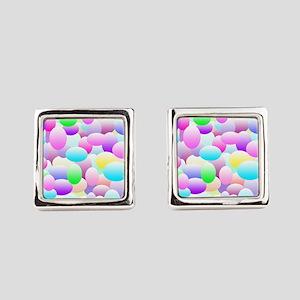 Bubble Eggs Light Square Cufflinks