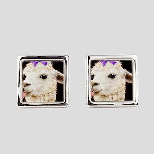 Alpaca or LLama? Square Cufflinks