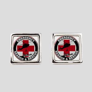 Emergency Rescue Square Cufflinks